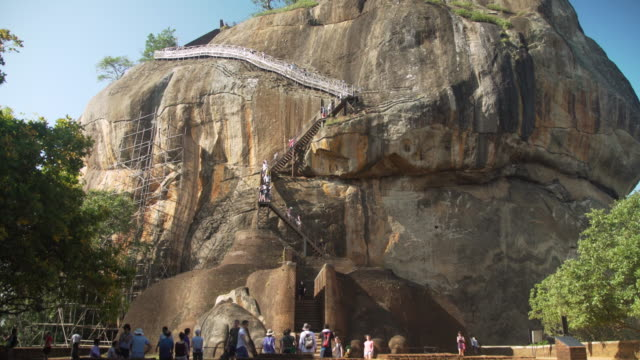 sigiriya lion rock - sri lanka stock videos & royalty-free footage