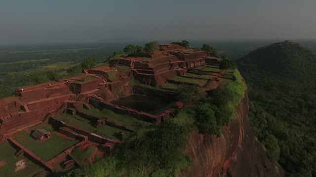 sigiriya on sri lanka - old ruin stock videos & royalty-free footage