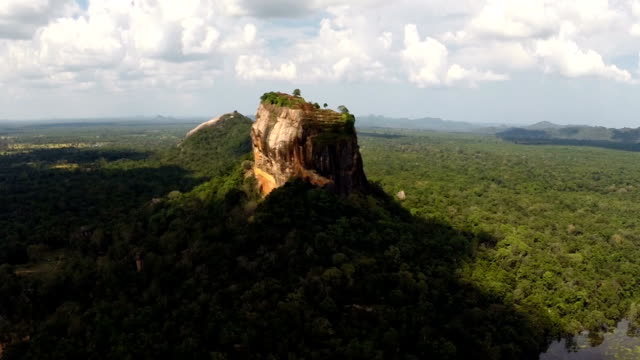 sigiriya rock aerial view - sri lanka stock videos & royalty-free footage