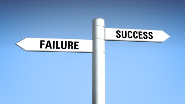 sign 01 success vs failure - pole stock videos & royalty-free footage