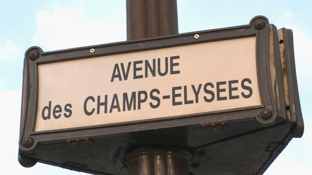 CU Sign at Avenue des Champs Elysees / Paris, Ile de France, France