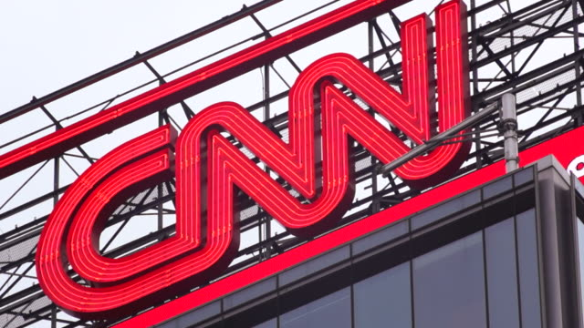 cnn sign at columbus circle - cnn stock videos & royalty-free footage
