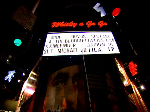sign being altered at historical whisky a go go club sunset strip - sunset boulevard los angeles stock videos & royalty-free footage