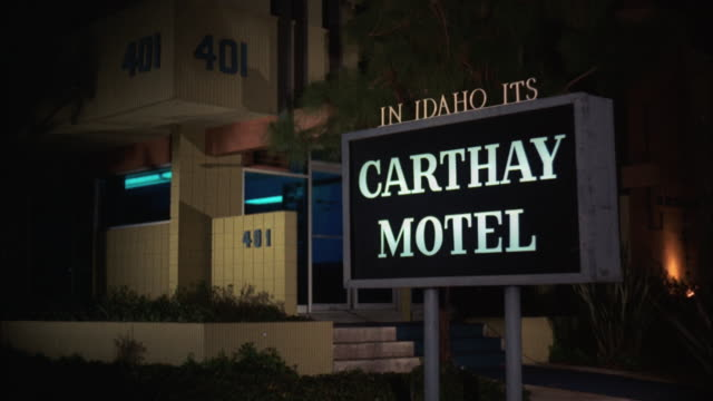 ms sign bord of carthay motel - motel stock videos and b-roll footage