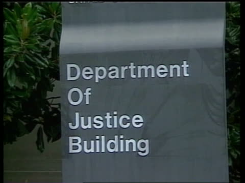 sign 'department of justice building' pull out - timothy mcveigh stock videos & royalty-free footage