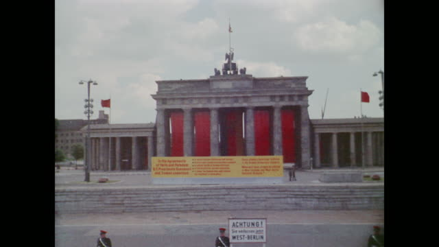 sign explains roosevelt and truman's contributions to germany - potsdam brandenburg stock videos & royalty-free footage
