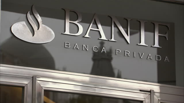 cu sign for banif private banking / madrid spain - banking sign stock videos & royalty-free footage