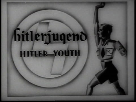sign for hitler youth / new york, usa - 1938 stock videos & royalty-free footage