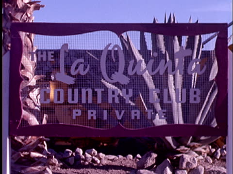 1965 ms sign for la quinta country club/ c - clubhouse stock videos & royalty-free footage
