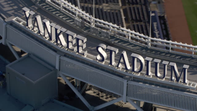 A sign identifies Yankee Stadium in New York City.