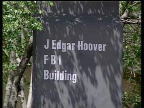 sign 'j edgar hoover fbi building' gv gbi building - timothy mcveigh stock videos & royalty-free footage