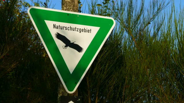 Sign natural reserve, Vulkaneifel, Eifel, Rhineland-Palatinate, Germany, Europe