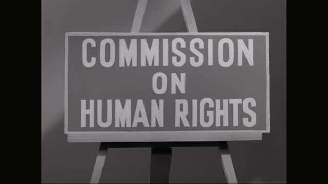 CU Sign of Commission On Human Rights / New York City, New York State, United States