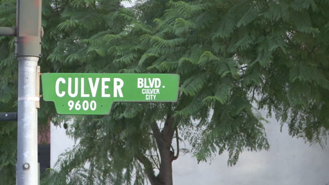 ms sign of culver blvd street in culver city / los angeles, california, united states - culver city stock videos & royalty-free footage