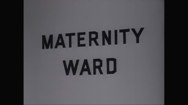 CU ZI Sign of maternity ward / United States