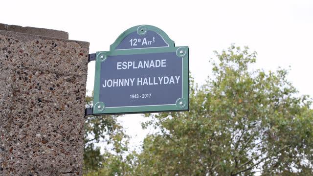 FRA: The Johnny Hallyday Esplanade Inaugurated