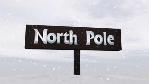 """sign of the """"north pole"""" - nordpolen bildbanksvideor och videomaterial från bakom kulisserna"""