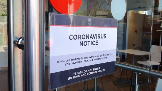a sign on the window of esph gym displays its closed during the coronavirus pandemic on march 25 2020 in london england - brian dayle coronavirus stock videos & royalty-free footage
