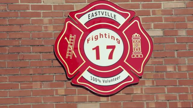 cu, sign on volunteer fire station, eastville, virginia, usa - eastville stock videos and b-roll footage
