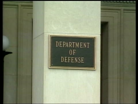sign outside the department of defense - department of defense stock videos and b-roll footage