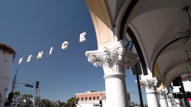 venice sign - venice california stock videos & royalty-free footage