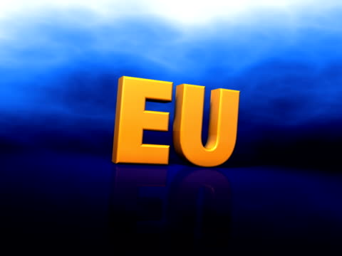 eu sign (pal25p) - financial item stock videos & royalty-free footage