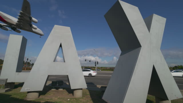lax sign - lax airport stock videos & royalty-free footage