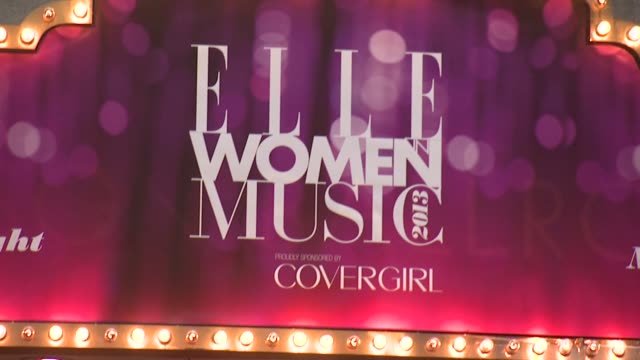 atmosphere signage 4th annual elle women in music celebration arrivals at the edison ballroom on april 10 2013 in new york new york - edison ballroom stock videos & royalty-free footage