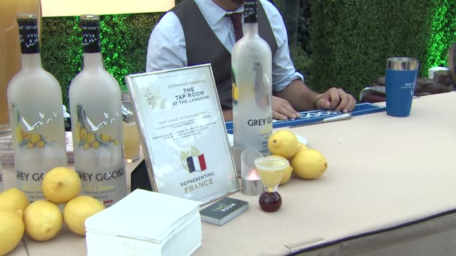 signage and grey goose at a taste of the world presented by breeders' cup grey goose vodka on 11/2/2012 in pasadena ca - grey goose vodka stock videos & royalty-free footage