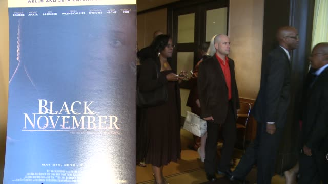 signage and guests at black november screening in washington dc at the john f kennedy center for performing arts on may 08 2012 in washington dc - john f. kennedy center for the performing arts stock videos & royalty-free footage