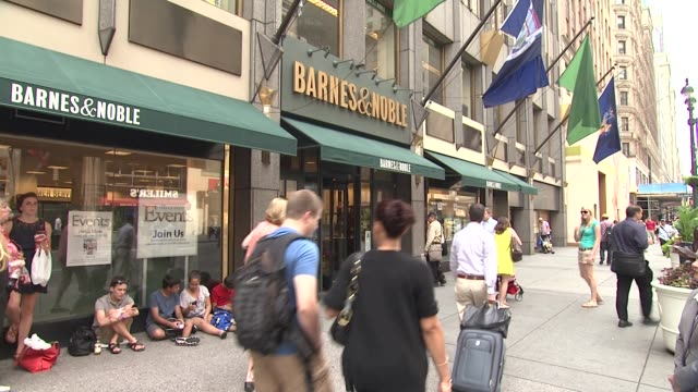 signage and guests at heidi klum signs copies of project runway the show that changed fashion at barnes noble 5th avenue on july 13 2012 in new york... - barnes & noble stock videos and b-roll footage