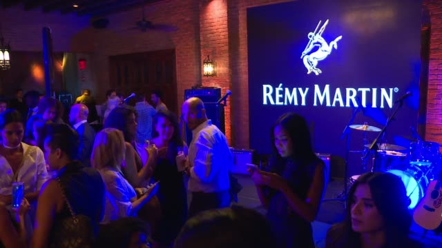 ATMOSPHERE signage and guests at The House of Remy Martin and Actress Jackie Cruz celebrate launch of 2016 Circle of Centaurs at The Bowery Hotel on...