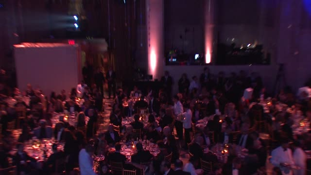 signage and guests at the ninth annual unicef snowflake ball at cipriani, wall street on in new york city. - cipriani manhattan stock videos & royalty-free footage