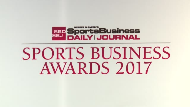 atmosphere – signage at 10th annual sports business awards at the new york marriott marquis on may 24 2017 in new york city - marriott marquis new york stock videos & royalty-free footage