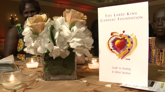 vídeos de stock, filmes e b-roll de signage at 18th annual larry king cardiac foundation gala at ritz carlton hotel on may 19 2012 in washington dc - ritz carlton hotel