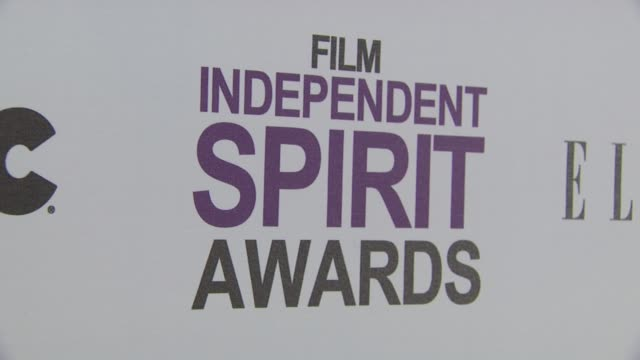 signage at 2012 film independent spirit awards - arrivals on 2/25/2012 in santa monica, ca. - independent feature project stock videos & royalty-free footage