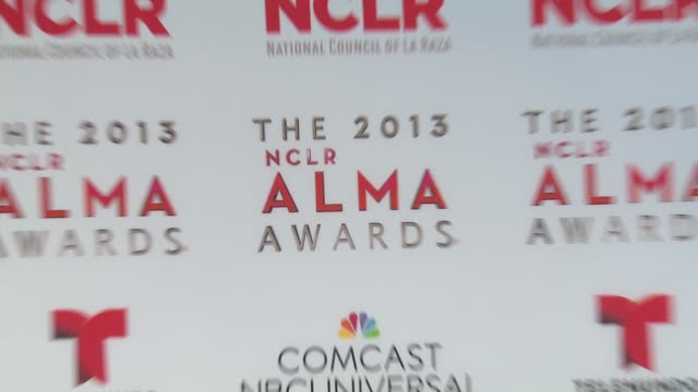 atmosphere signage at 2013 nclr alma awards on 9/27/2013 in pasadena ca - alma awards stock videos and b-roll footage
