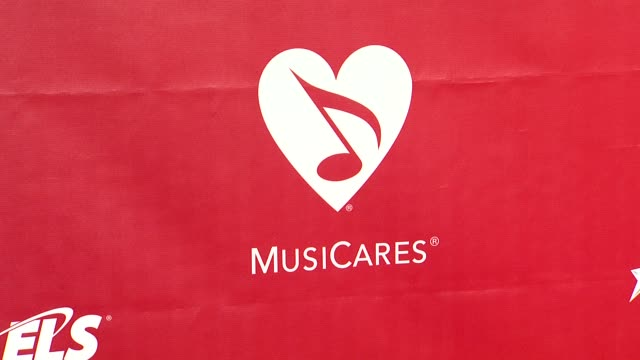 atmosphere signage at 2014 musicares person of the year honoring carole king at los angeles convention center on in los angeles california - musicares foundation stock videos & royalty-free footage