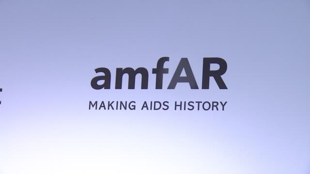 ATMOSPHERE signage at 2015 amfAR Inspiration Gala New York at Spring Studios on June 16 2015 in New York City