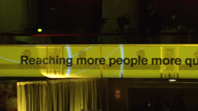 ATMOSPHERE signage at 2015 International Rescue Committee Freedom Award Benefit at Waldorf Astoria Hotel on November 04 2015 in New York City