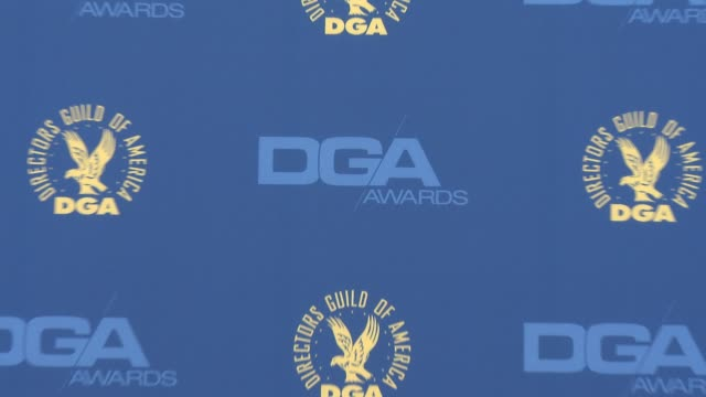 atmosphere signage at 65th annual directors guild of america awards arrivals 2/2/2013 in hollywood ca - directors guild of america awards stock videos & royalty-free footage