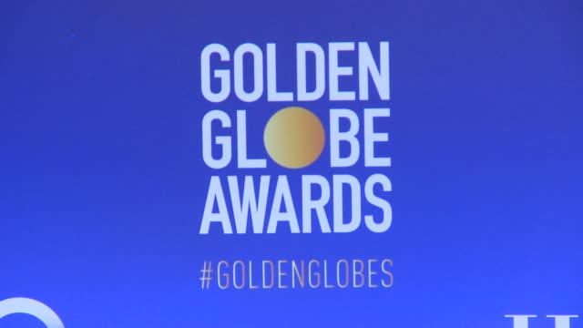 atmosphere signage at 76th annual golden globe awards nominations at the beverly hilton hotel on december 06 2018 in beverly hills california - golden globe awards stock videos & royalty-free footage