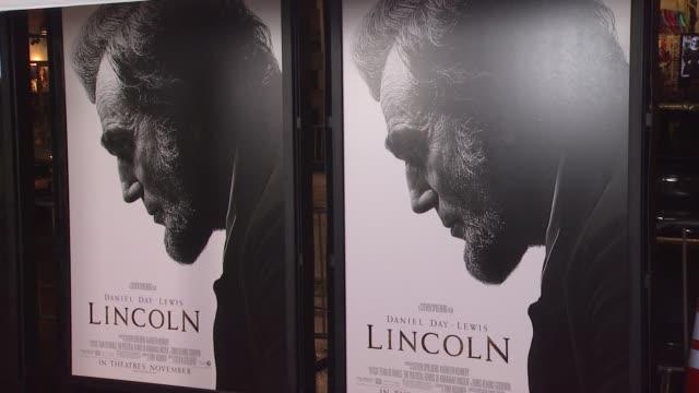 signage at afi fest 2012 closing night gala world premiere of lincoln on 11/8/2012 in hollywood ca - 映画 リンカーン点の映像素材/bロール