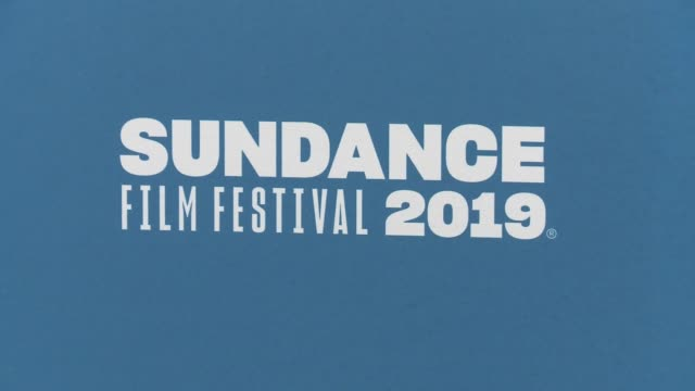 stockvideo's en b-roll-footage met atmosphere signage at 'after the wedding' premiere 2019 sundance film festival at eccles center theatre on january 24 2019 in park city utah - sundance film festival