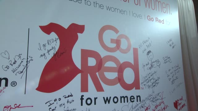 signage at aha's go red for women national wear red day at macy's at macy's herald square on 02/03/12 in new york - macy's herald square stock videos and b-roll footage