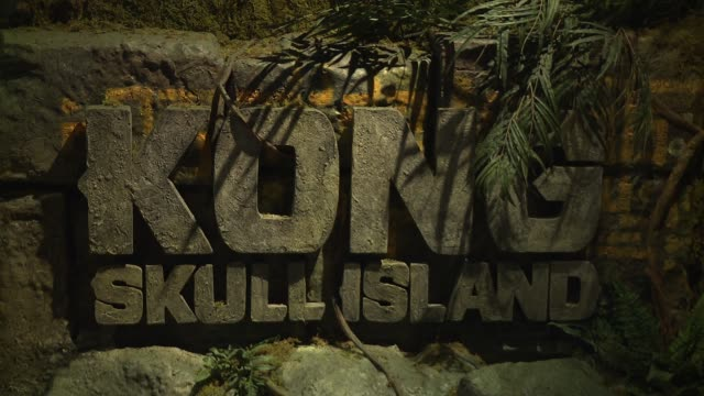 skull island experience launches at madame tussauds new york at madame tussauds on march 7 2017 in new york city - キングコング 髑髏島の巨神点の映像素材/bロール