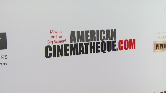 atmosphere signage at american cinematheque's 27th annual award presentation honoring jerry bruckheimer in beverly hills ca on - american cinematheque stock videos & royalty-free footage