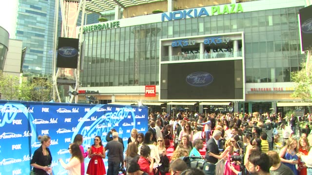 ATMOSPHERE signage at American Idol Season 12 Finale 5/16/2013 in Los Angeles CA