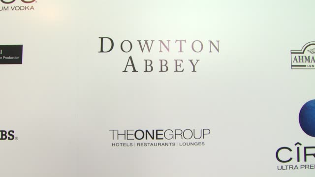 ATMOSPHERE signage at An Evening With Downton Abbey Talent Panel QA on 6/10/2013 in North Hollywood CA