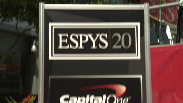 signage at at 2012 espy awards on 7/11/2012 in los angeles, ca. - espy awards stock videos & royalty-free footage